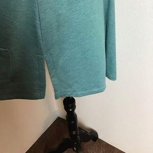 LOGO by Lori Goldstein Tops - Logo - Short Sleeved, A- Line Full Zip Hoodie